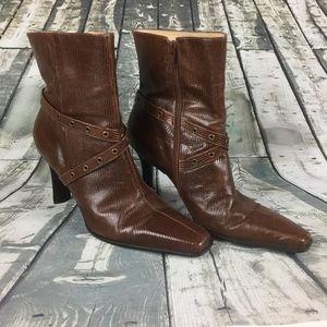 Gianni Bini Leather Booties Women Size 9M